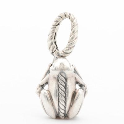 David Yurman Sterling Silver Frog Pendant