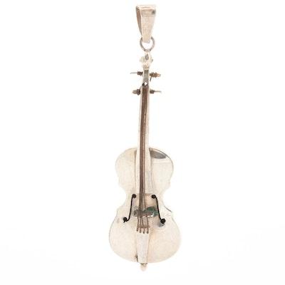 Sterling Silver Cello Pendant