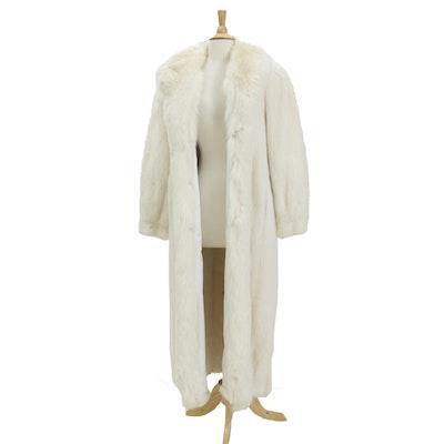 Pearl White Mink Fur Full-Length Coat