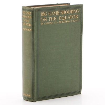 """Review Copy """"Big Game Shooting on the Equator"""" by F. A. Dickinson"""