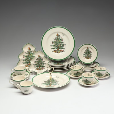"Spode ""Christmas Tree"" Dishes"