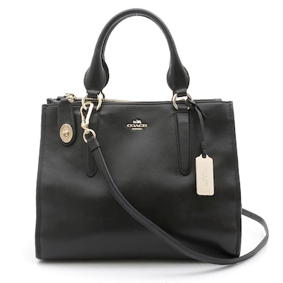 Coach Glove Tanned Black Leather Handbag