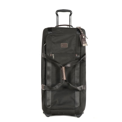 Tumi Black Nylon Rolling Travel Bag