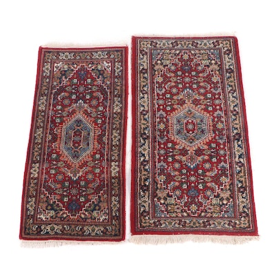 Hand-Knotted Romanian Persian Style Wool Accent Rugs