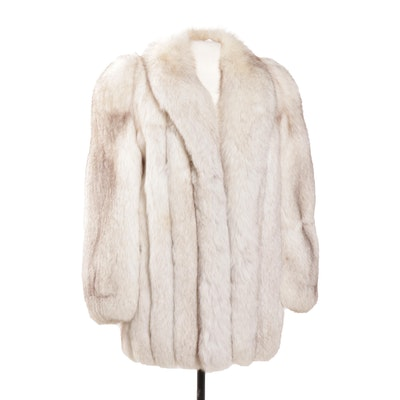 Blue Fox Full Skinned Fur Stroller Coat
