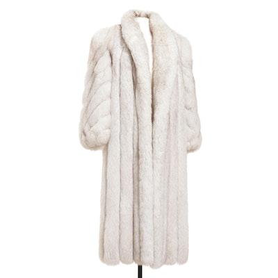 Saga Fox Blue Fox Fur Full-Length Coat
