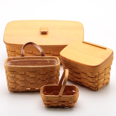 Longaberger Baskets including Hanging Mail Basket, 1998–2000
