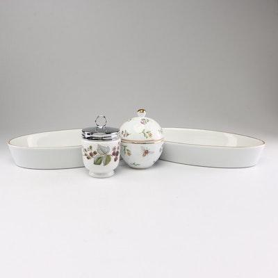 """Royal Worcester """"Lavinia"""" Egg Coddler and Godinger & Co. Porcelain Serveware"""