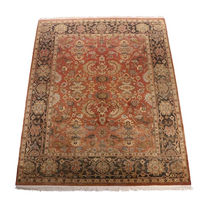 Hand-Knotted Indo-Persian Tabriz Wool Room Sized Rug
