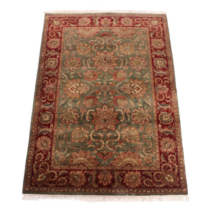 Hand-Knotted Indo-Persian Tabriz Wool Rug