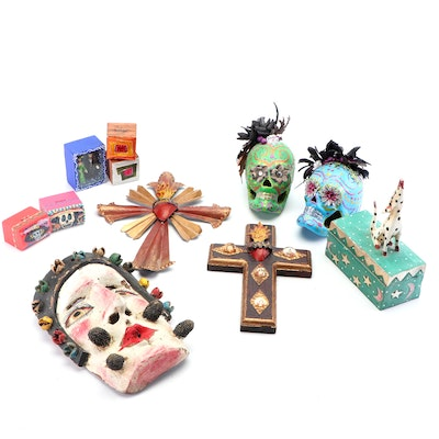 """""""Day of the Dead"""" Icons and Other Folk Art Decor"""