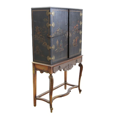 Chinese Style Painted Cabinet, Circa 1920s