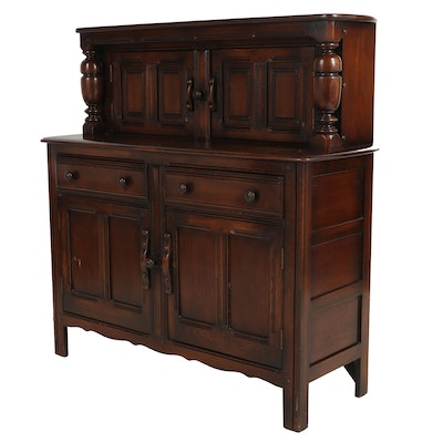 Jacobean Revival Oak Cabinet, 20th Century