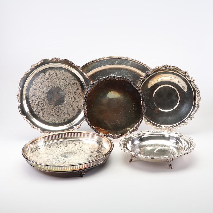 Wm Rogers, Wallace and Other Silver Plate Serveware