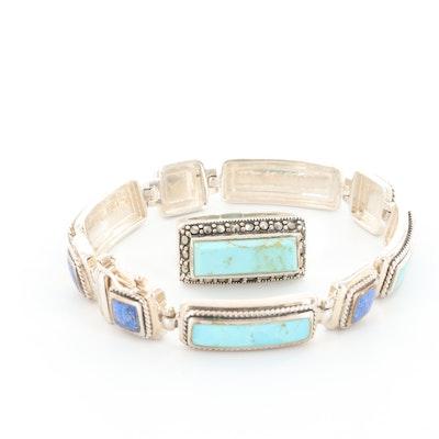 Sterling Silver Gemstone Ring and Bracelet