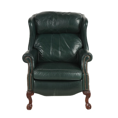 Bradington Young Forest Green Leather Upholstered Recliner