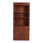 Contemporary Lighted Engineered Wood Display Cabinet