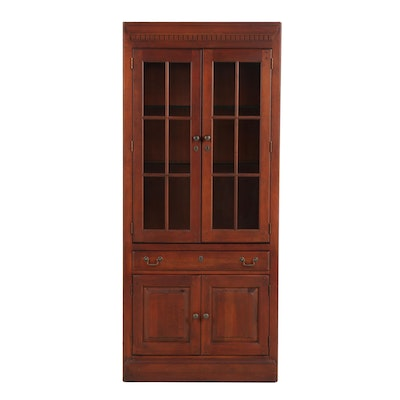 Contemporary Lighted Engineered Wooden Cabinet