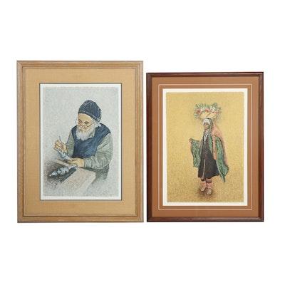 Vered Hyman Portrait Serigraphs