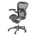 "Herman Miller ""Aeron"" Adjustable Black Office Desk Chair, 2000"
