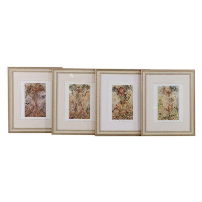 "Offset Lithographs after Léon Frédéric ""The Four Seasons"""