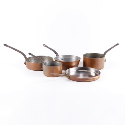 Paul Revere and BonJour Copper Clad Stainless Steel Pots