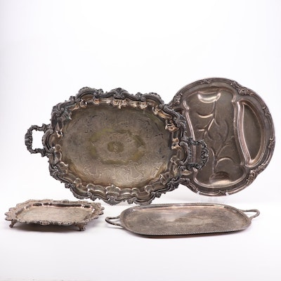 Silver Plate Platter and Tray Assortment
