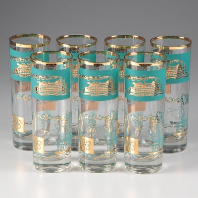 Libbey Southern Comfort Centennial Collins Glasses, 1968