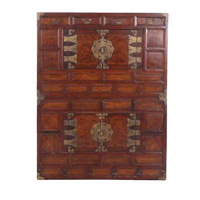 Korean Elm and Pine Cabinets, Early to Mid 20th Century