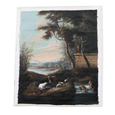 Chelsea House Inc. Oil Painting of a Pastoral Landscape