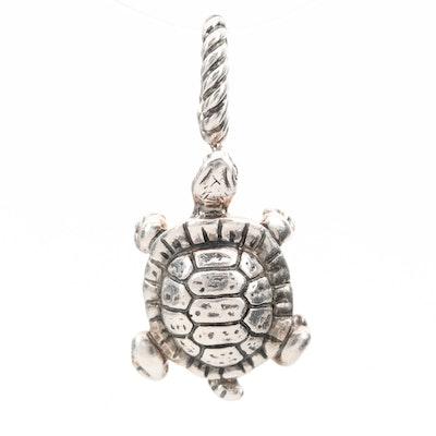 David Yurman Sterling Silver Turtle Pendant