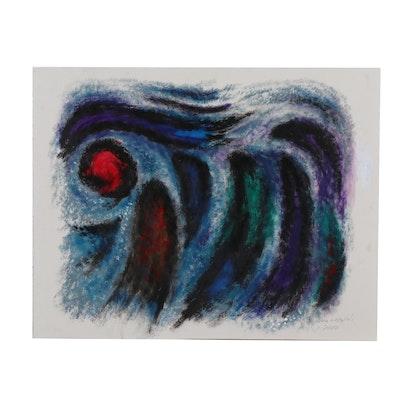 "Richard Strams Abstract Acrylic Painting ""Salome"""