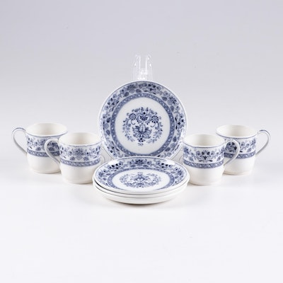 "Wedgwood ""Mandarin Blue"" Earthenware Dinnerware, Early to MId 20th Century"