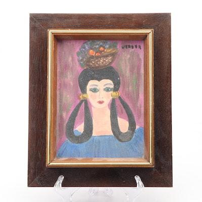 Acrylic Portrait of Woman