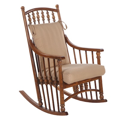 Virginia House Colonial Style Oak Rocking Chair, Vintage