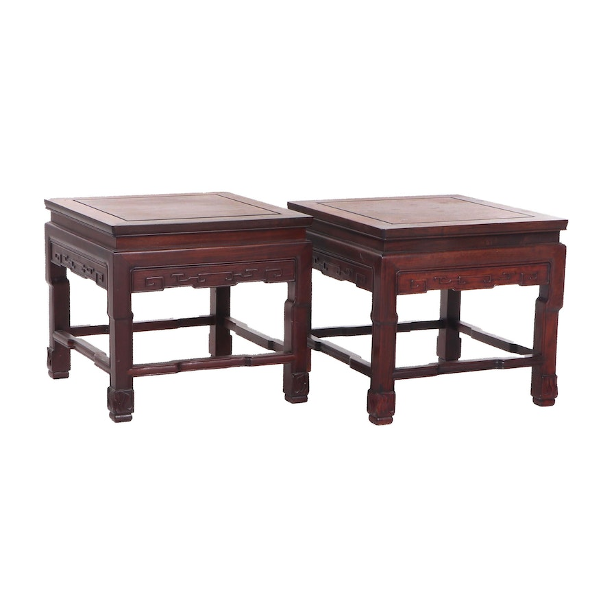Chinese Rosewood Side Tables, Vintage