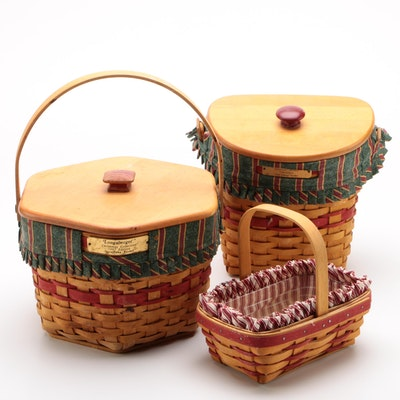 """Longaberger Baskets including """"Snowflake"""" and """"Glad Tidings"""""""