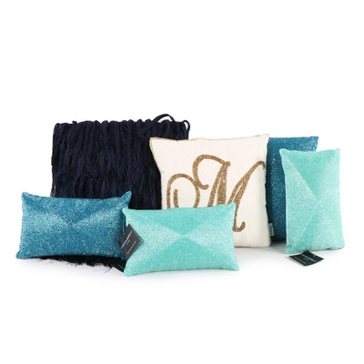 Decorator Throw Pillows Including Nicole Miller and Cynthia Rowley