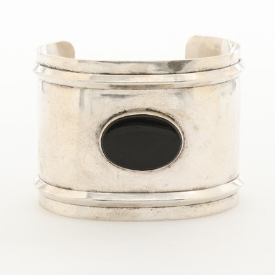 Tulla Booth Sterling Silver Black Onyx Cuff Bracelet