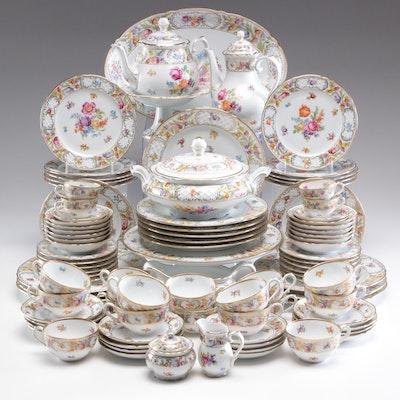 """Schumann Arzberg """"Dresden Flowers"""" Porcelain Dinnerware"""