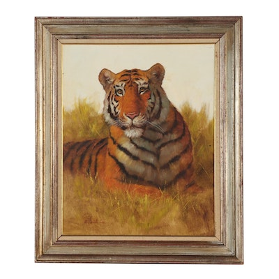 David Lee Oil Painting of a Tiger