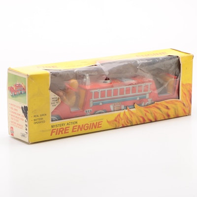 Amico Mystery Action Tin Fire Engine, Circa 1960s