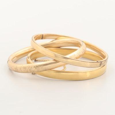 Vintage 12K Gold Filled Bangle Bracelets