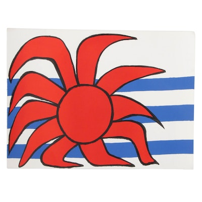 "Alexander Calder Lithograph ""Sun and Sea"""