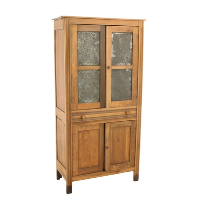 American Poplar Four-Tin Pie Safe Cupboard, Late 19th Century