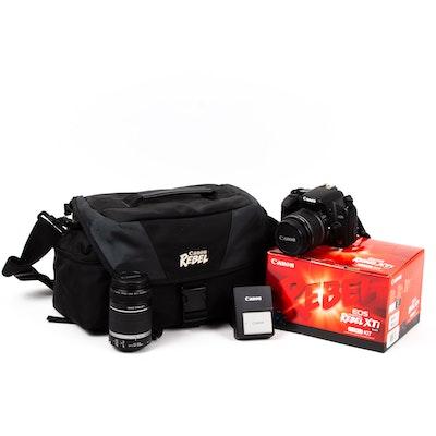 Canon EOS Digital Rebel XSI Camera and Lens