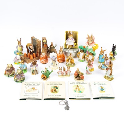 Beatrix Potter Figurines and Books