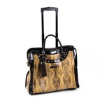 Cabrelli and Co. Embossed Snakeskin Faux Leather Rolling Briefcase