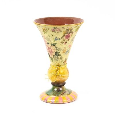 "MacKenzie-Childs ""Torquay Frank Mustard"" Vase, 2003"