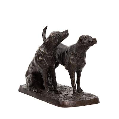 Bronze Dog Sculpture